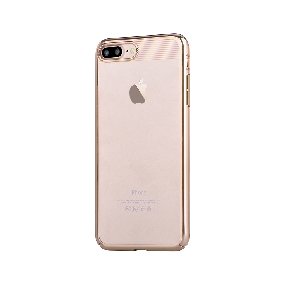 Carcasa iPhone 8 Plus / 7 Plus Comma Brightness Champagne Gold (electroplacat, protectie 360�)