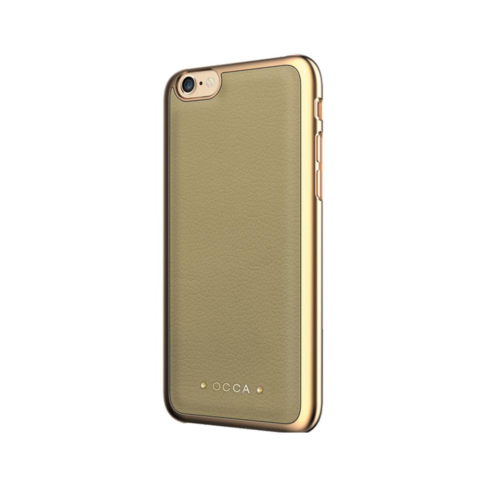 Carcasa iPhone 7 Occa Absolute Khaki (piele naturala)