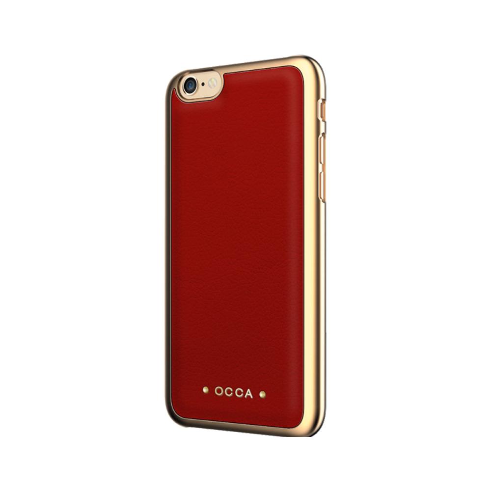 Carcasa iPhone 7 Occa Absolute Red (piele naturala)