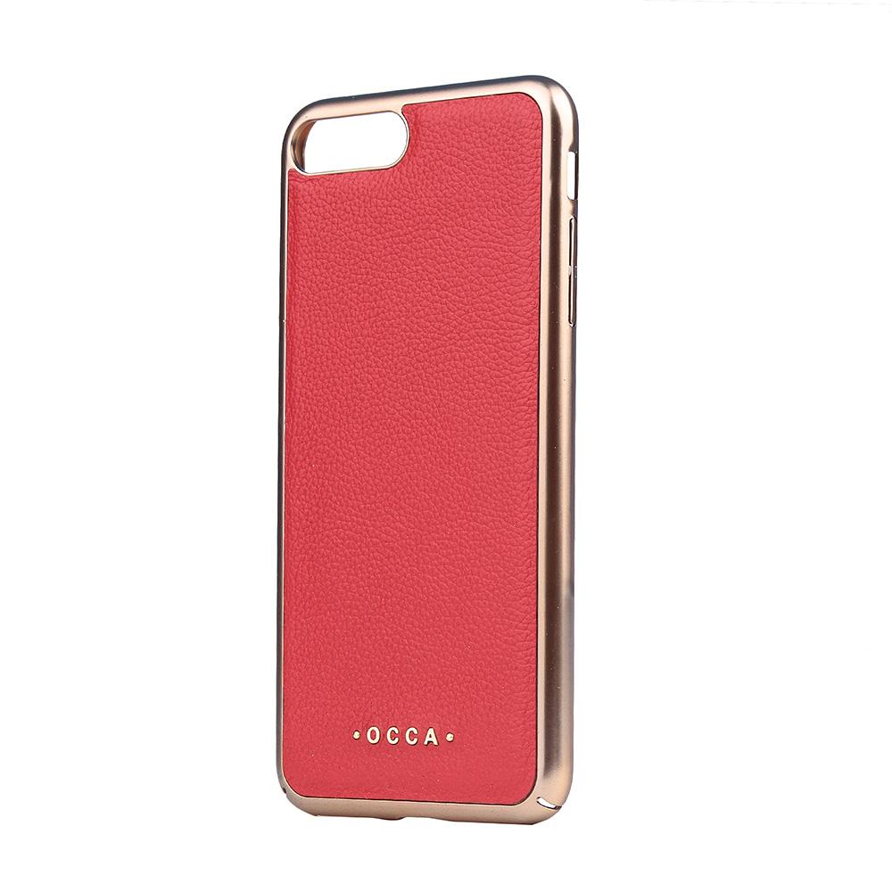 Carcasa iPhone 7 Plus Occa Absolute Red (piele naturala)
