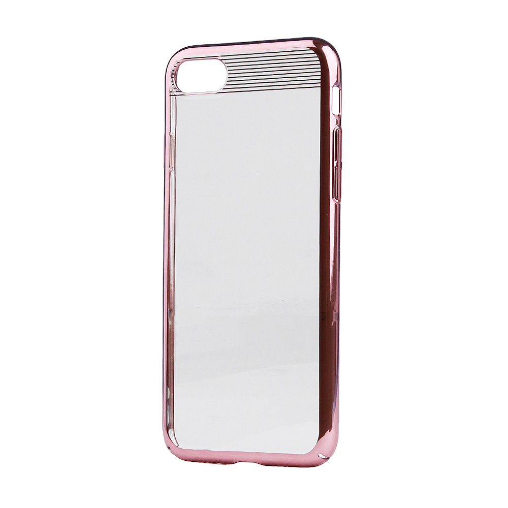 Carcasa iPhone 8 / 7 Comma Brightness Rose Gold (electroplacat, protectie 360�)