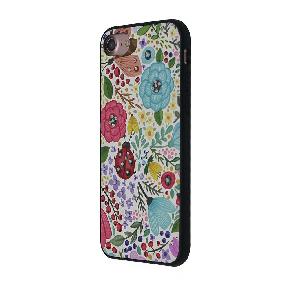 Carcasa iPhone 8 / 7 Occa Artist Spring Party (3D print cu cristale)