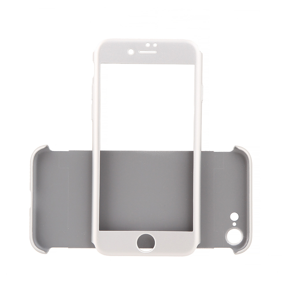 Carcasa iPhone 7 Just Must Defense 360 Silver (3 piese: protectie spate, protectie fata, folie sticl
