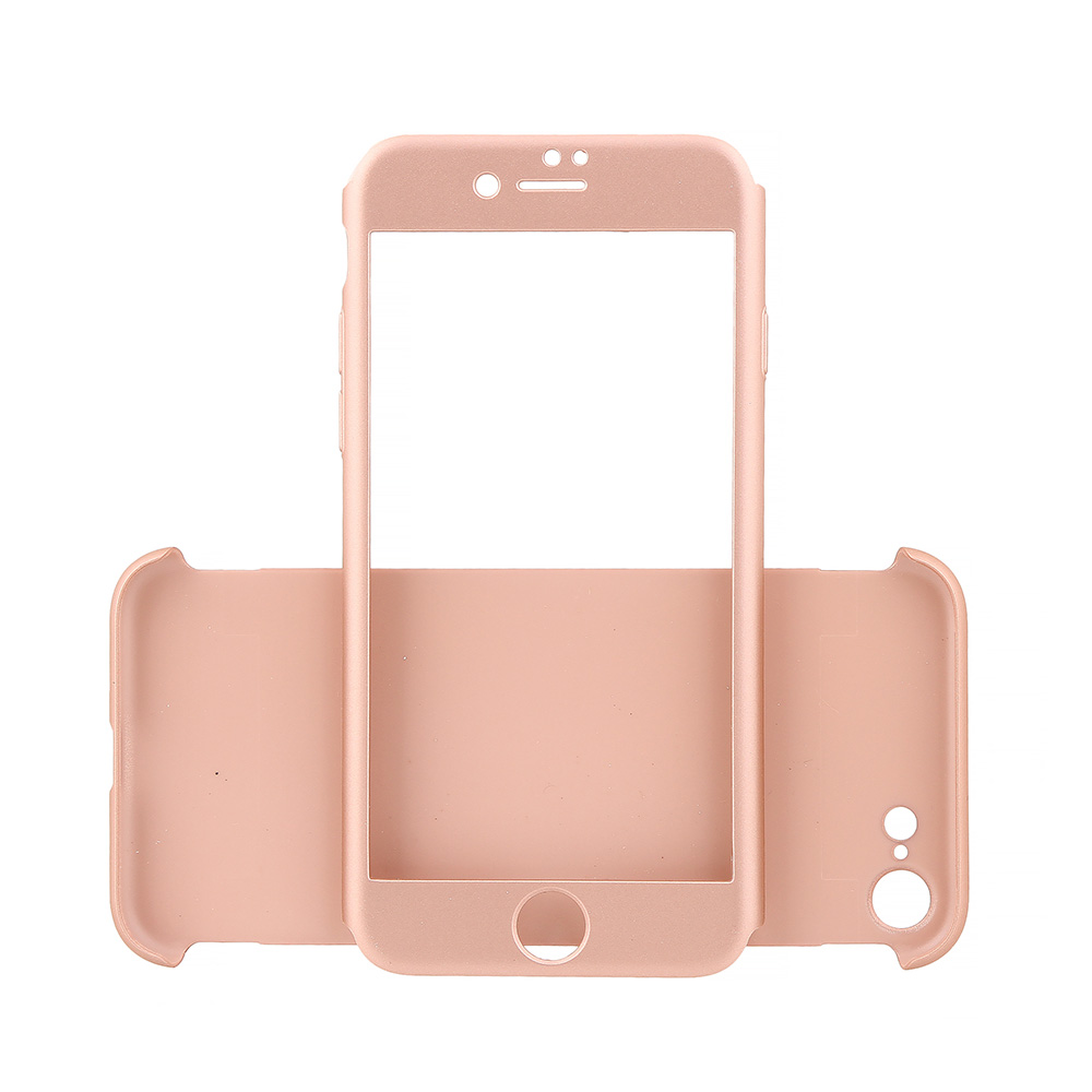 Carcasa iPhone 7 Just Must Defense 360 Rose Gold (3 piese: protectie spate, protectie fata, folie st