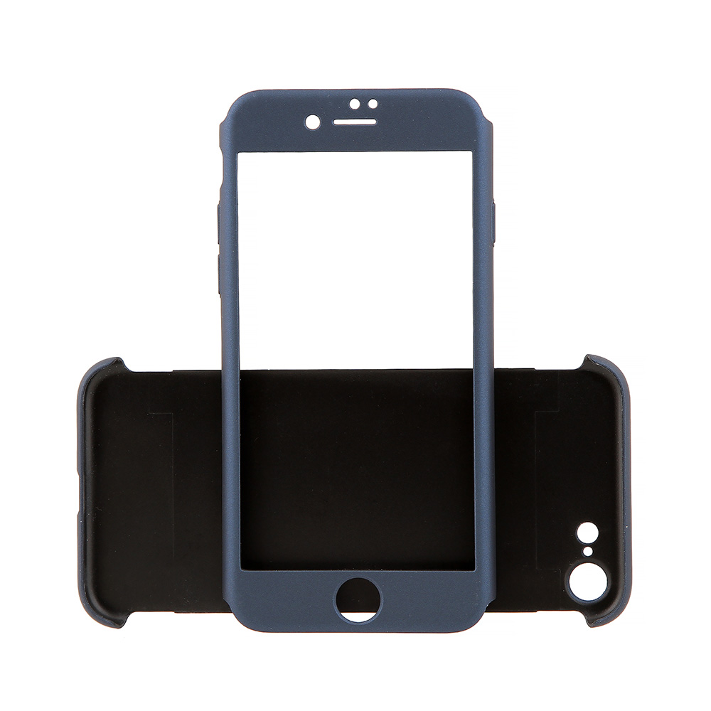 Carcasa iPhone 7 Just Must Defense 360 Navy (3 piese: protectie spate, protectie fata, folie sticla)