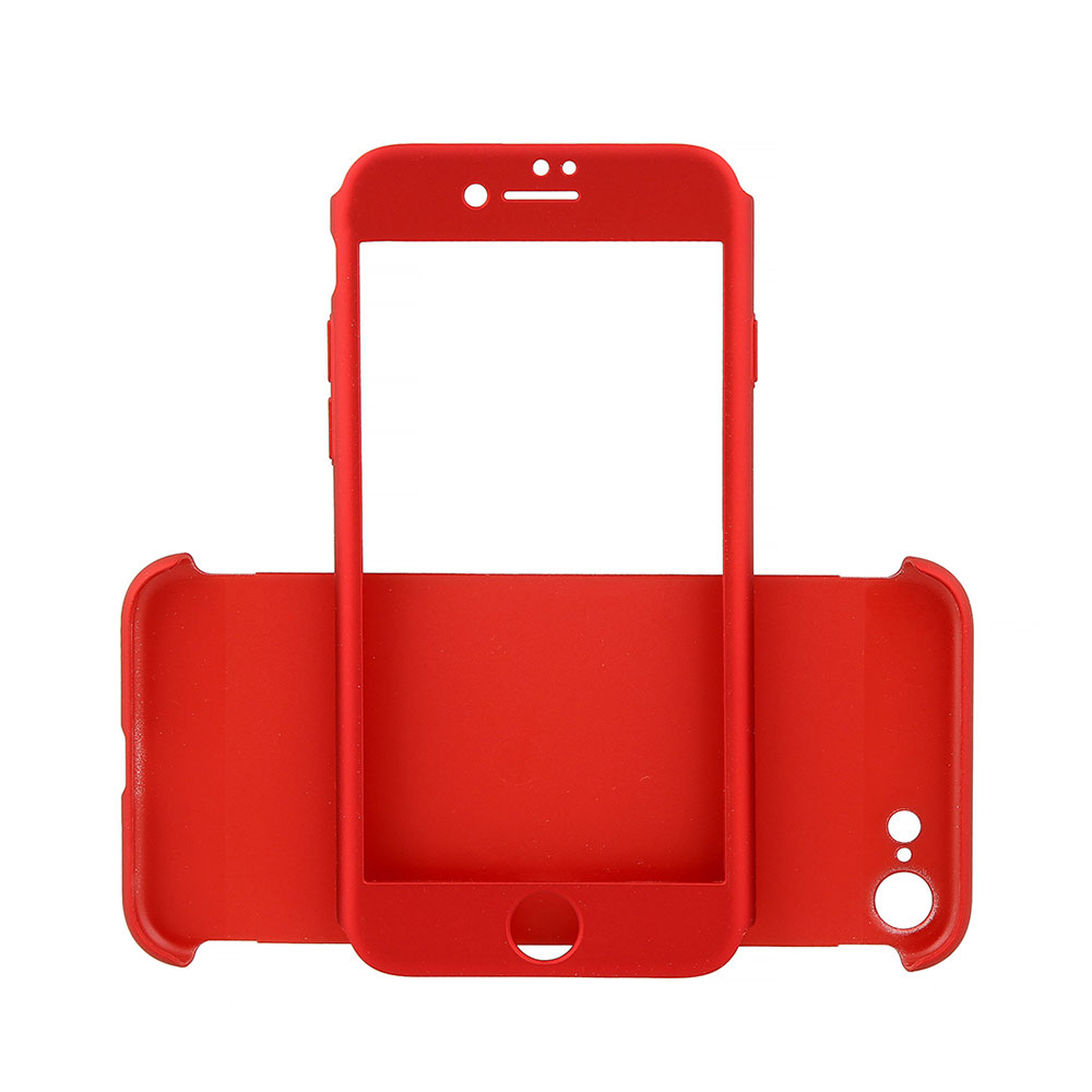 Carcasa iPhone 7 Just Must Defense 360 Red (3 piese: protectie spate, protectie fata, folie sticla)
