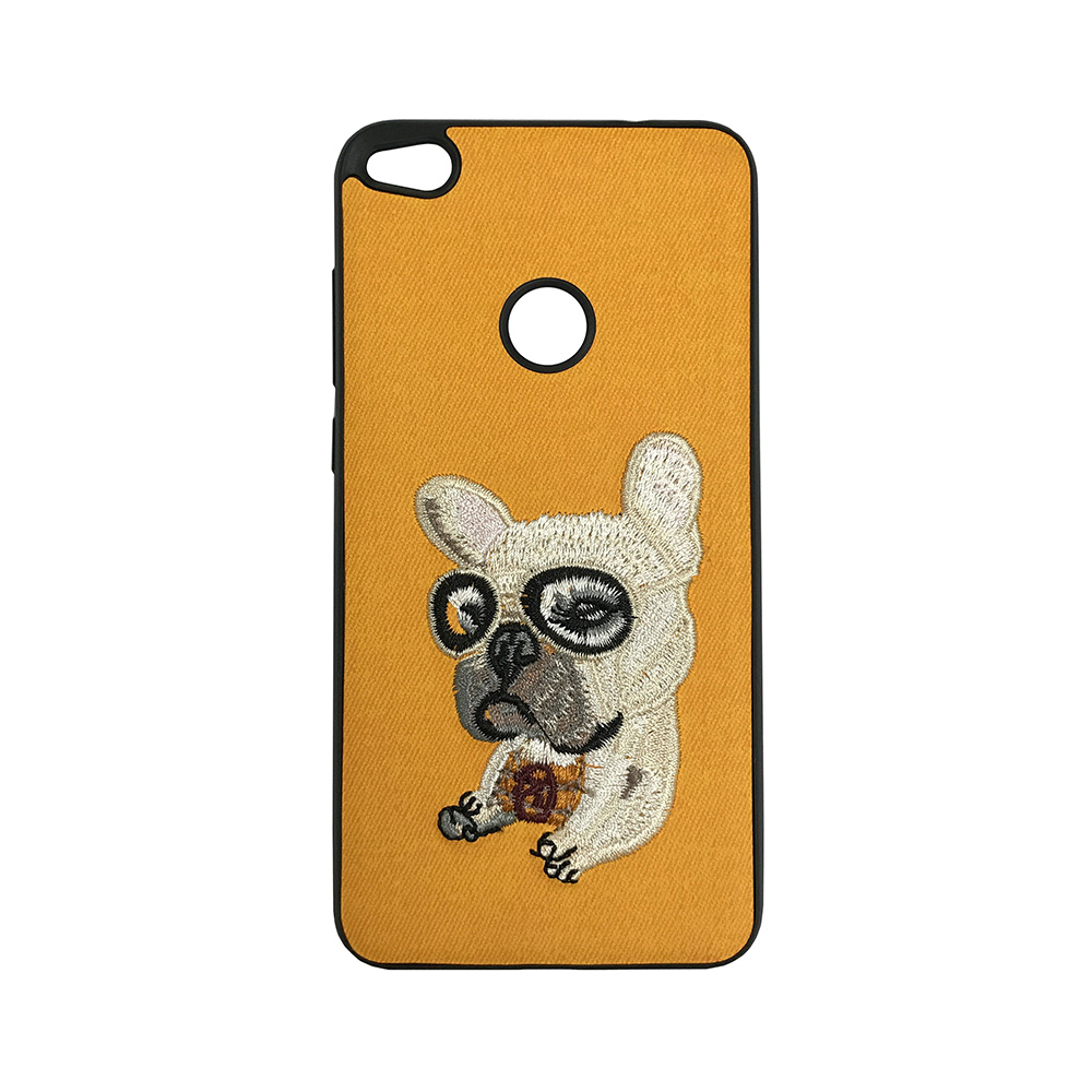 Carcasa Huawei P9 Lite 2017 Lemontti Embroidery Orange Puppy