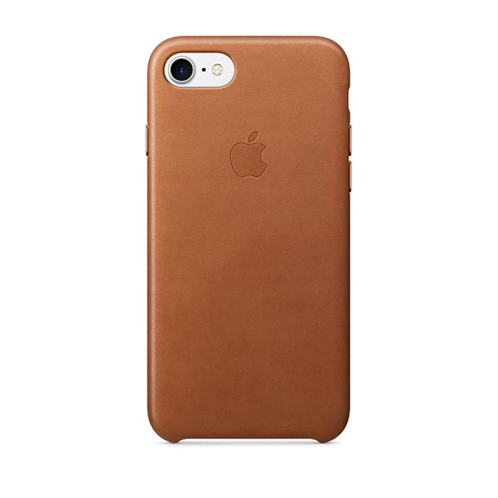Carcasa iPhone 8 / 7 Apple Leather Saddle Brown (piele naturala)