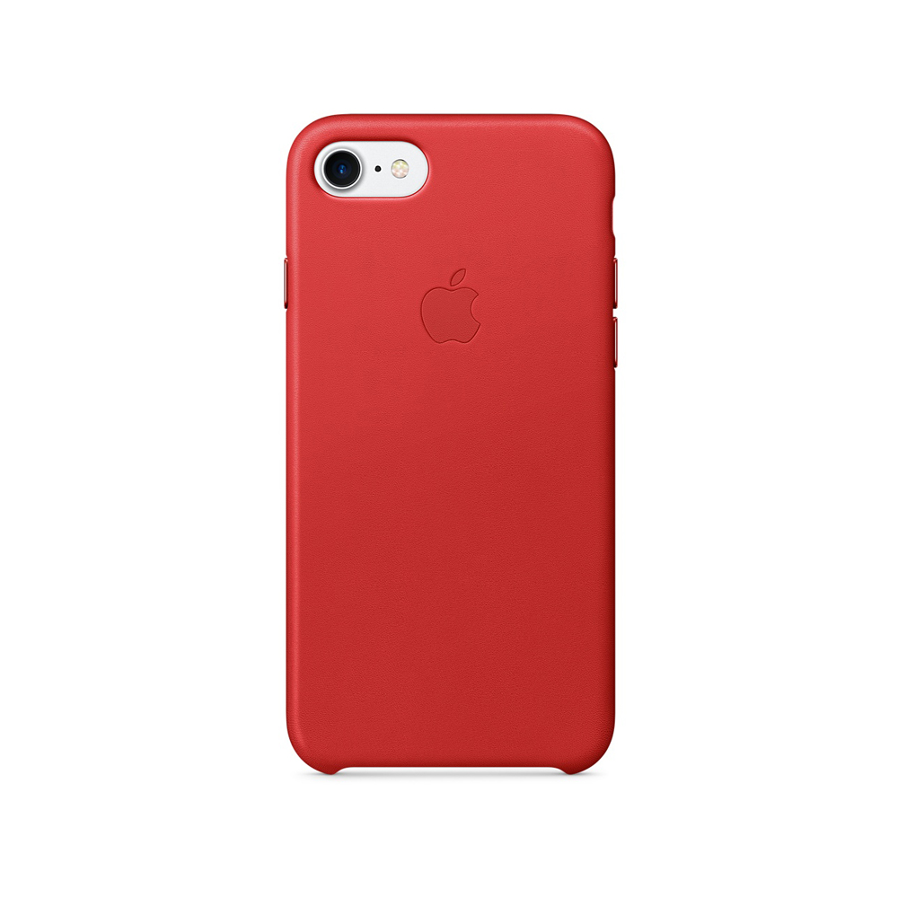 Carcasa iPhone 8 / 7 Apple Leather Red (piele naturala)