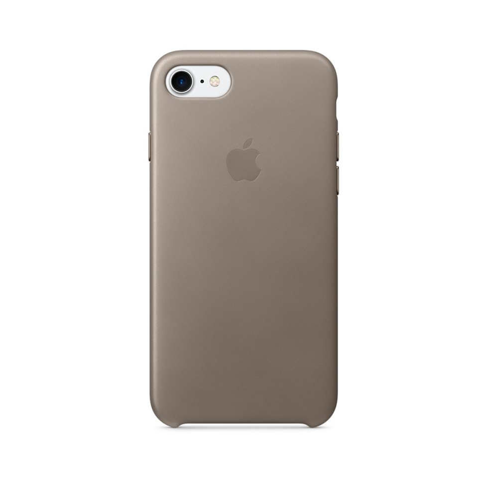 Carcasa iPhone 8 / 7 Apple Leather Taupe (piele naturala)