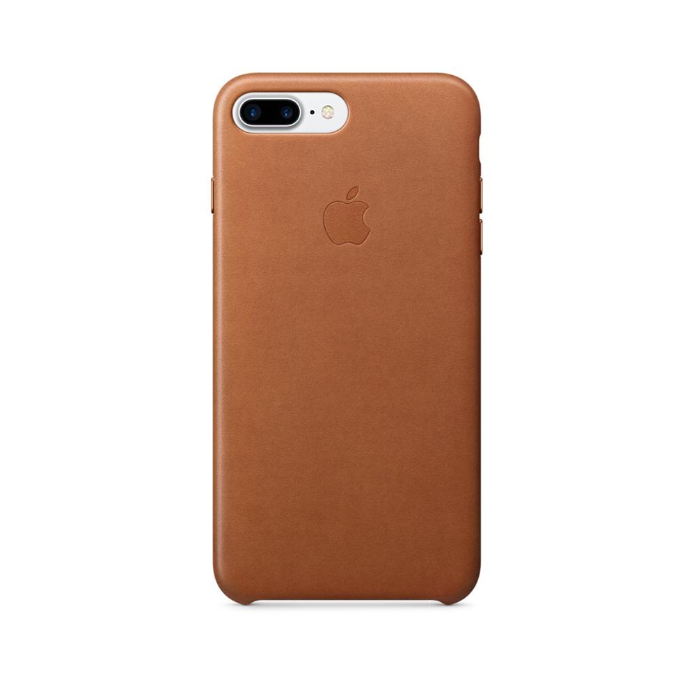 Carcasa iPhone 8 Plus / 7 Plus Apple Leather Saddle Brown (piele naturala)