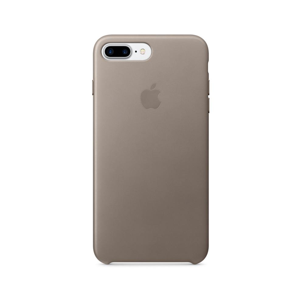 Carcasa iPhone 8 Plus / 7 Plus Apple Leather Taupe (piele naturala)