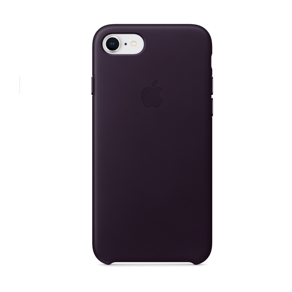 Carcasa iPhone 8 / 7 Apple Leather Dark Aubergine (piele naturala)