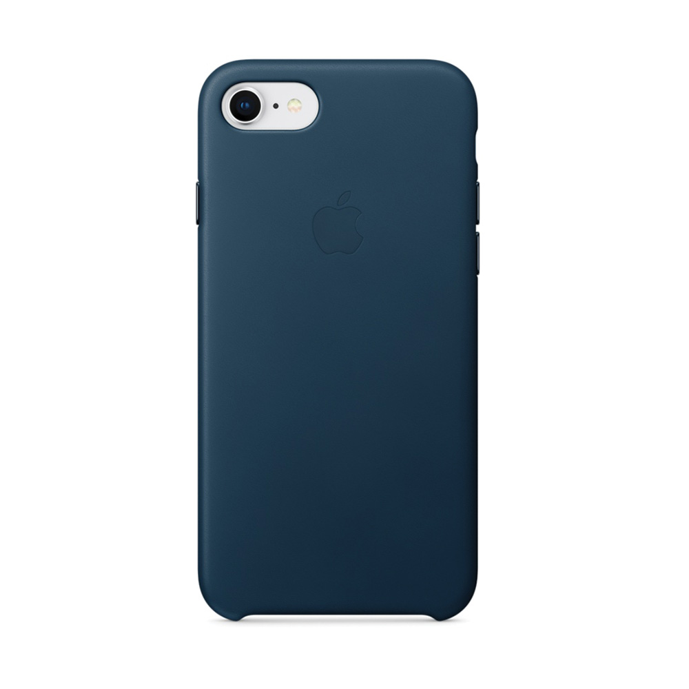 Carcasa iPhone 8 / 7 Apple Leather Cosmos Blue (piele naturala)