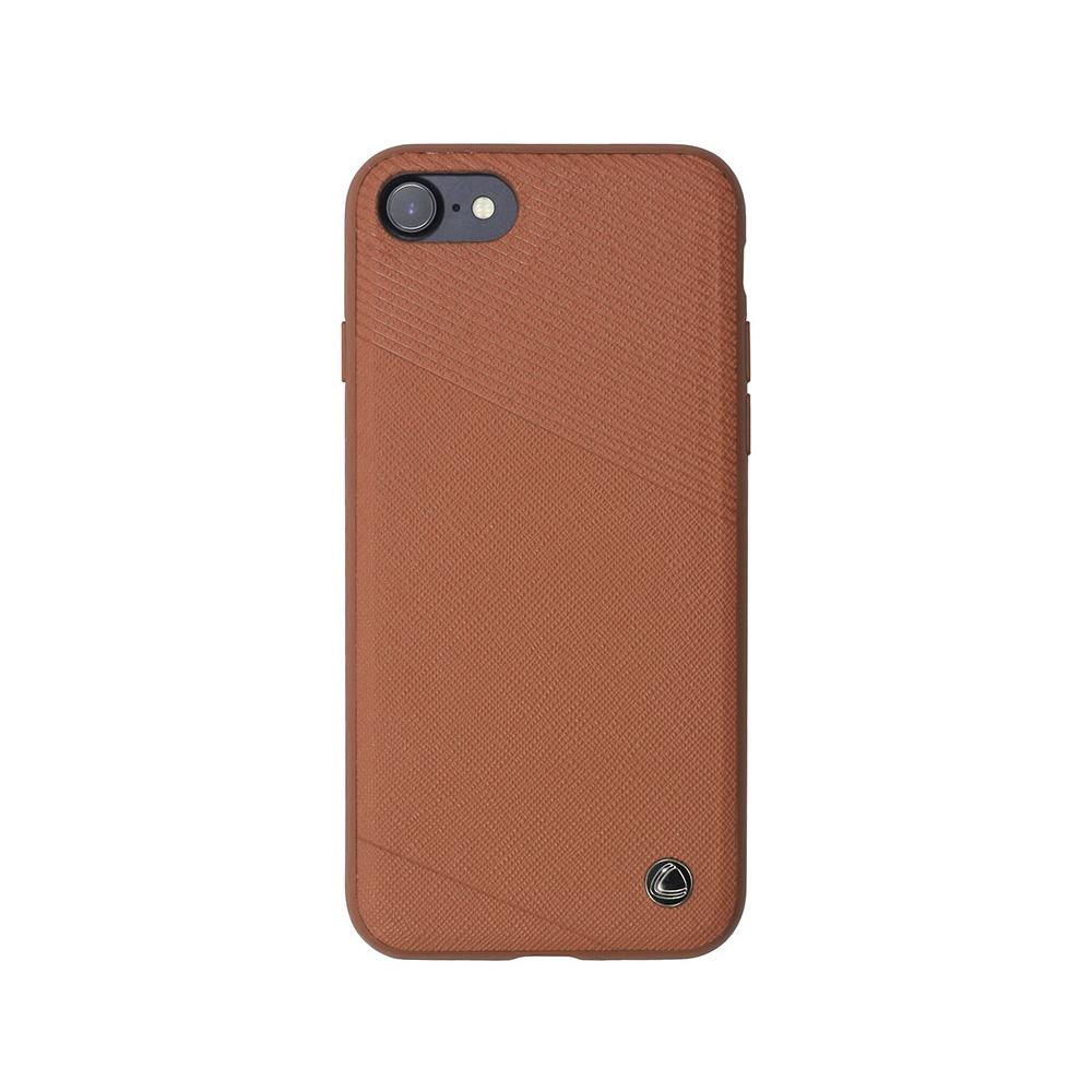 Carcasa iPhone 8 / 7 Occa Exquis Car Brown (margini flexibile, placuta metalica integrata)