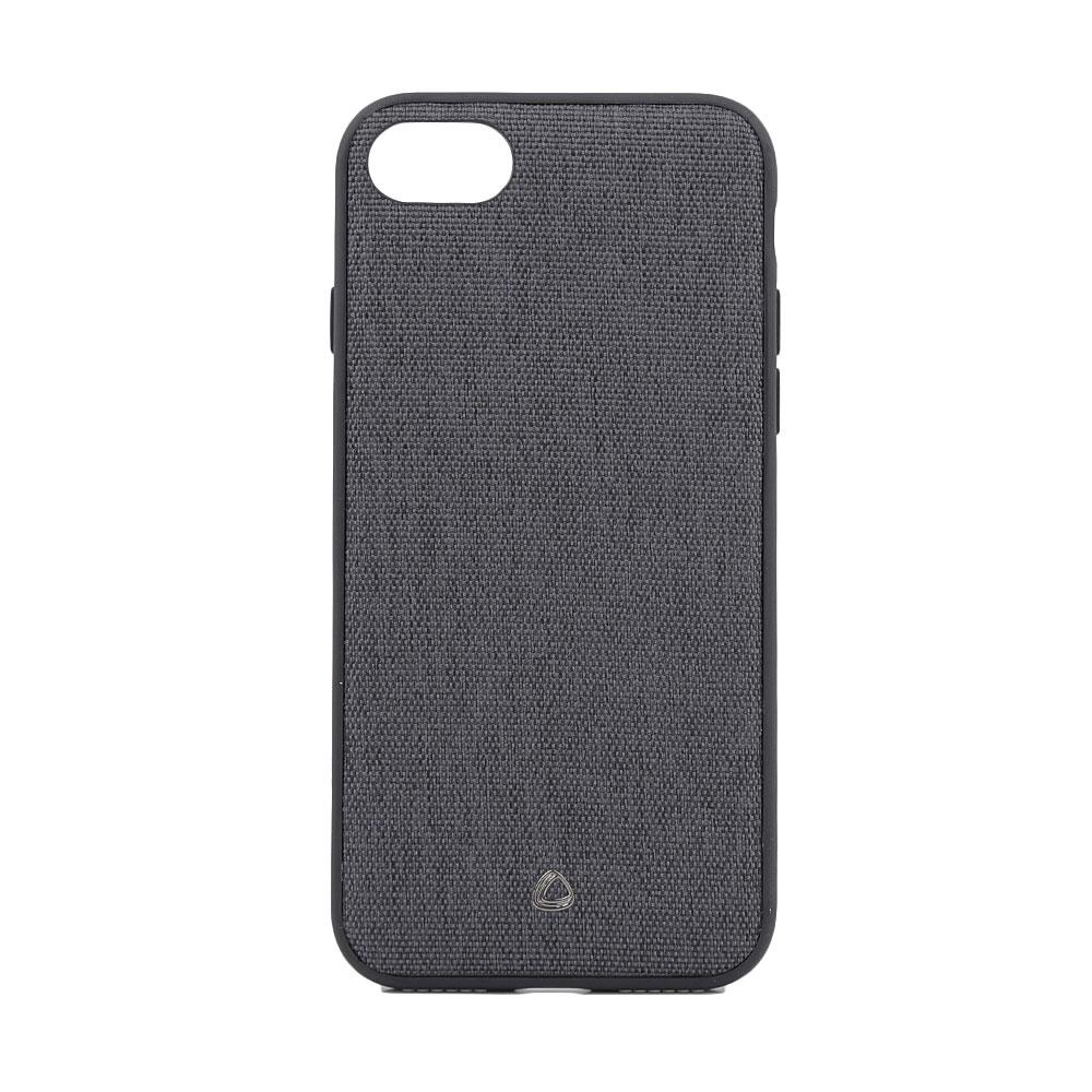 Carcasa iPhone 8 / 7 Occa Linen Car Black (margini flexibile, material textil, placuta metalica inte