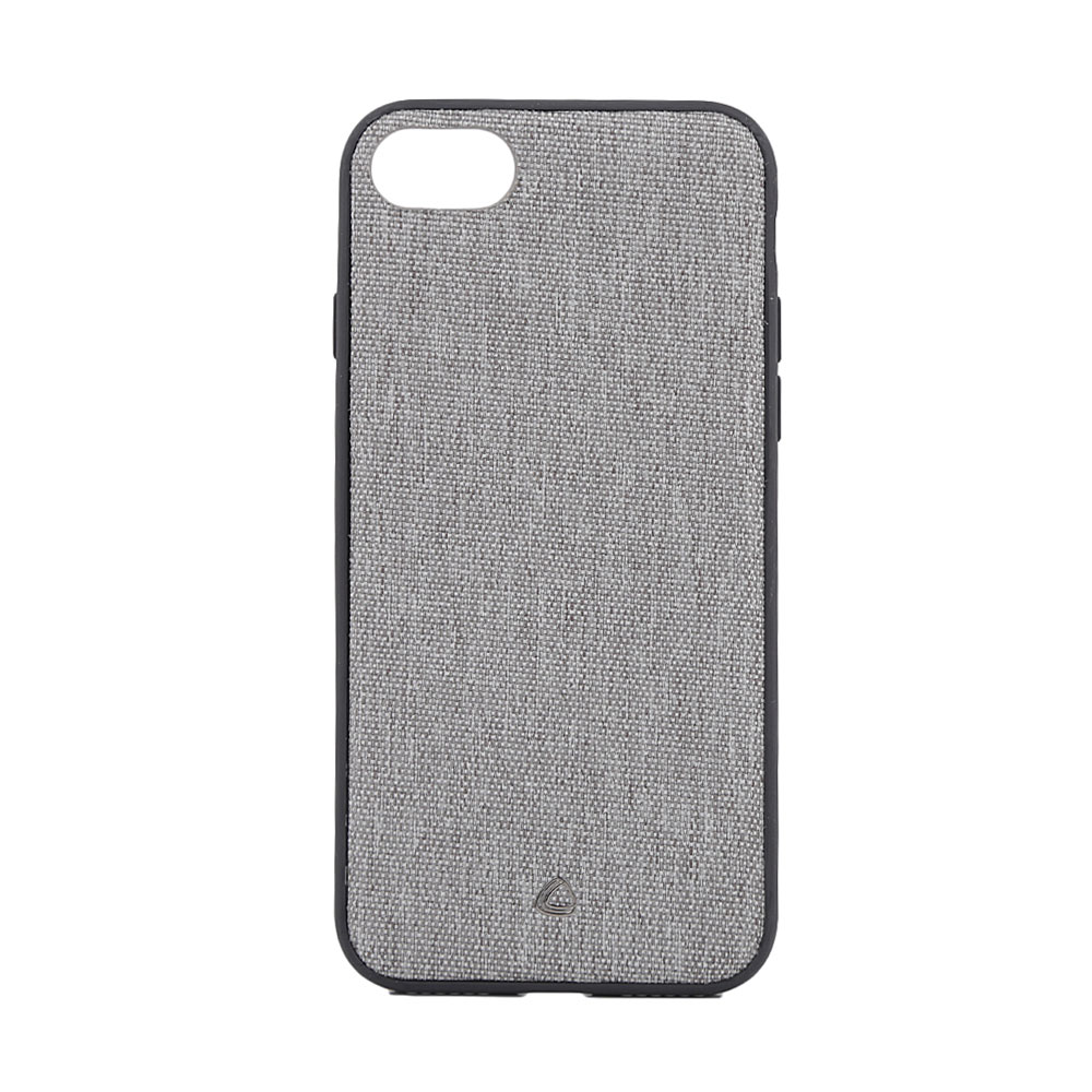 Carcasa iPhone 8 / 7 Occa Linen Car Gray (margini flexibile, material textil, placuta metalica integ