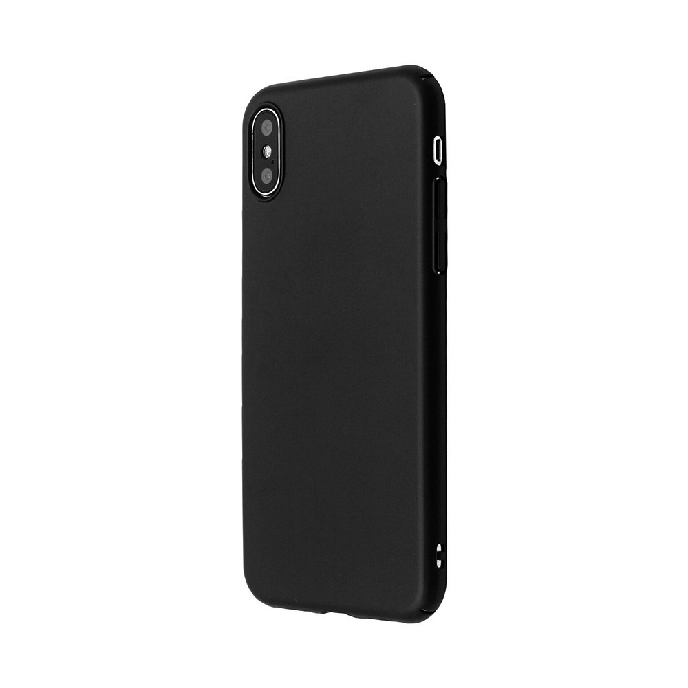 Carcasa iPhone X / XS  Just Must Uvo Black (material fin la atingere, slim fit)