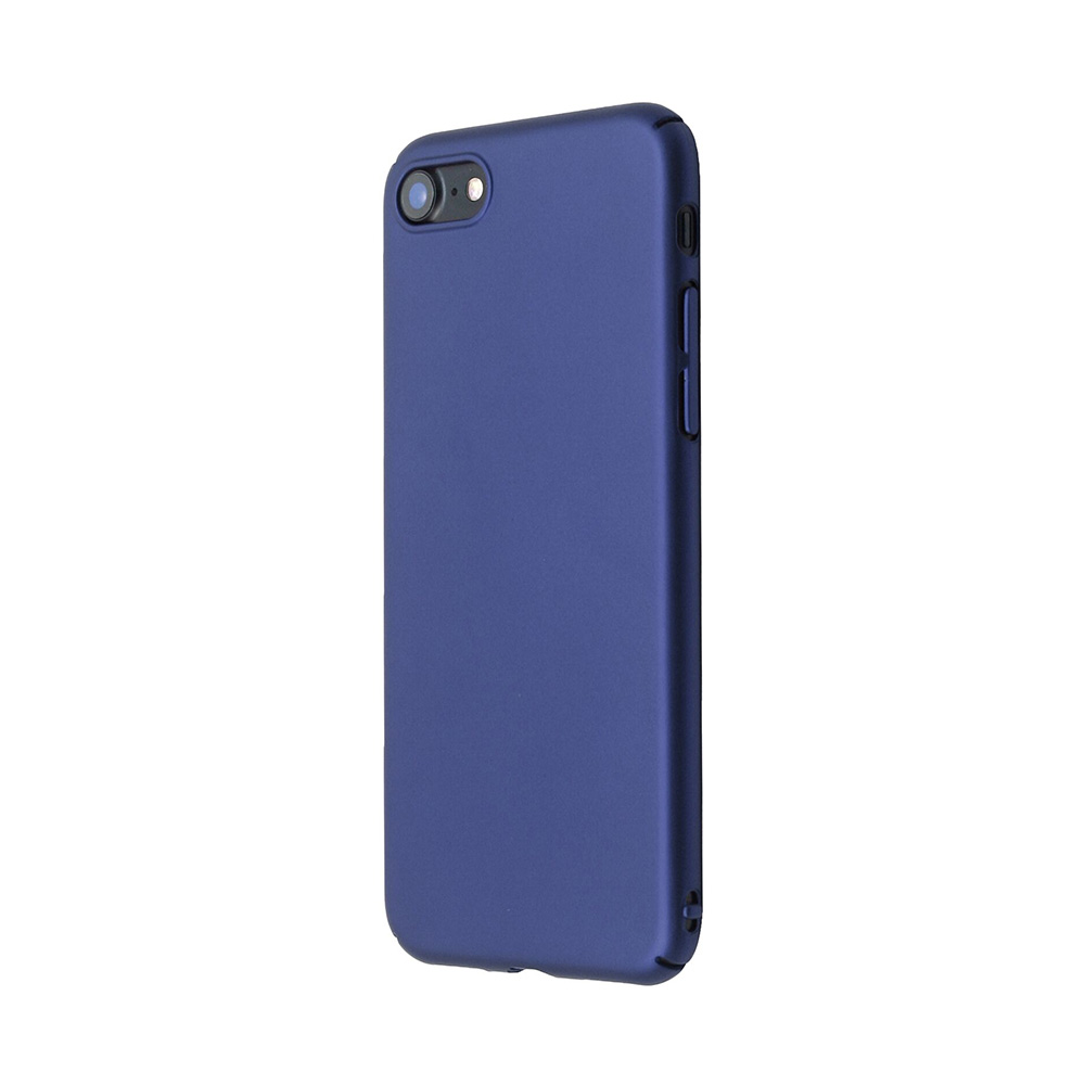 Carcasa iPhone 8 Just Must Uvo Navy (material fin la atingere, slim fit)