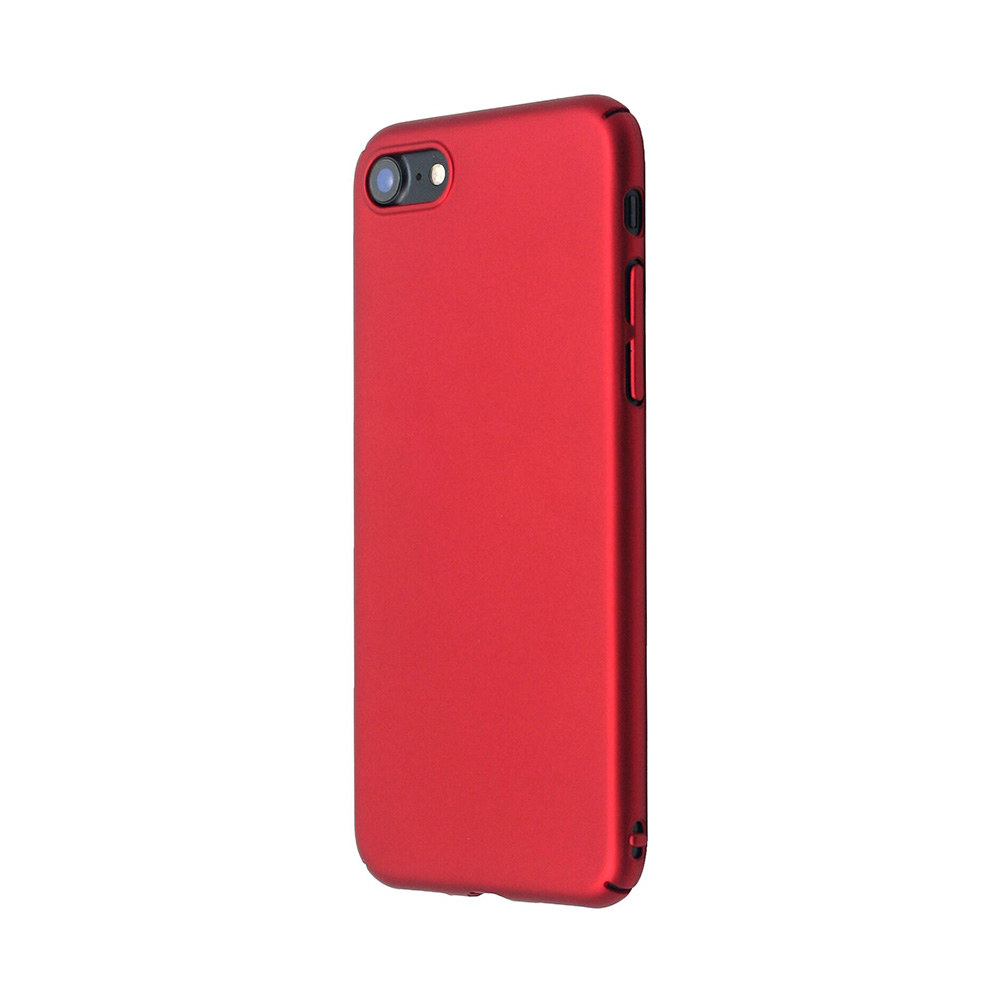Carcasa iPhone 8 Just Must Uvo Red (material fin la atingere, slim fit)