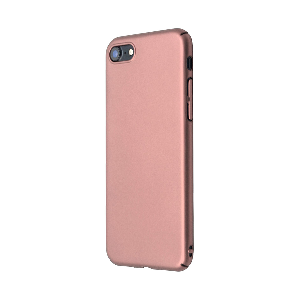 Carcasa iPhone 8 Just Must Uvo Rose Gold (material fin la atingere, slim fit)