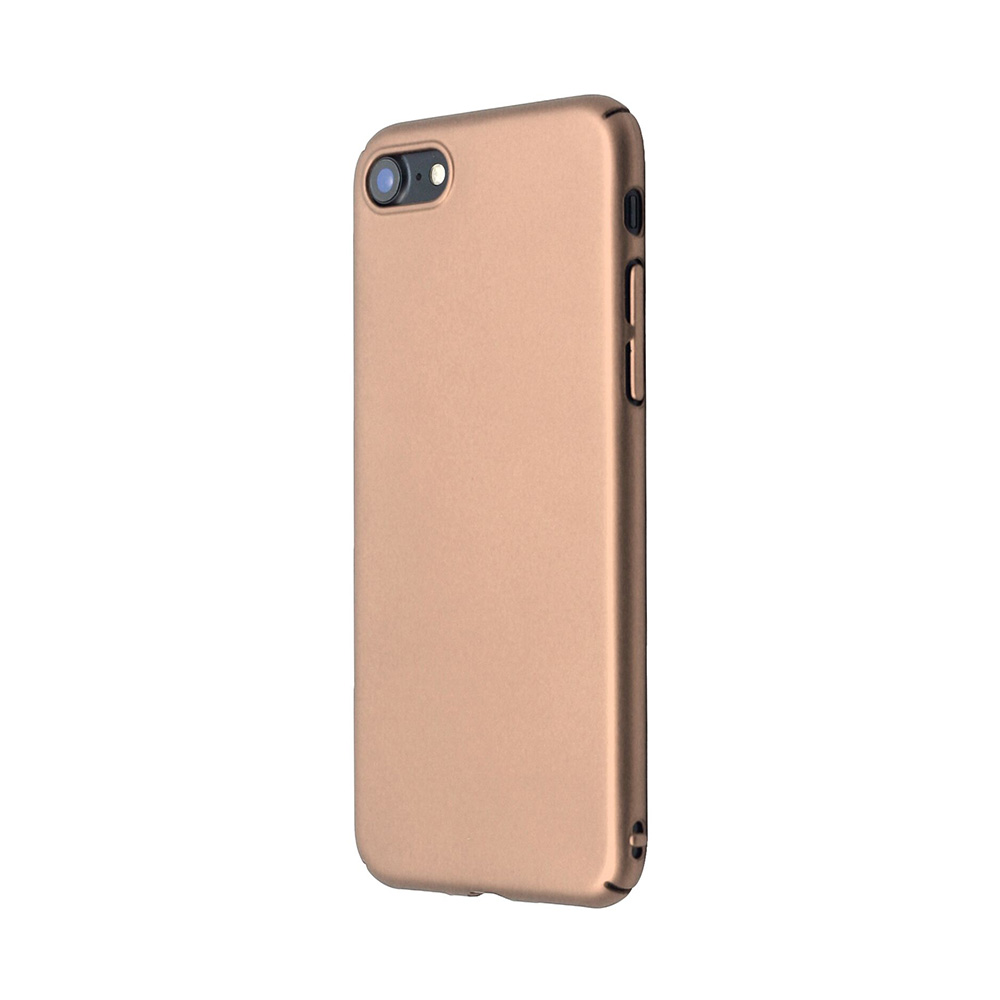 Carcasa iPhone 8 Just Must Uvo Gold (material fin la atingere, slim fit)