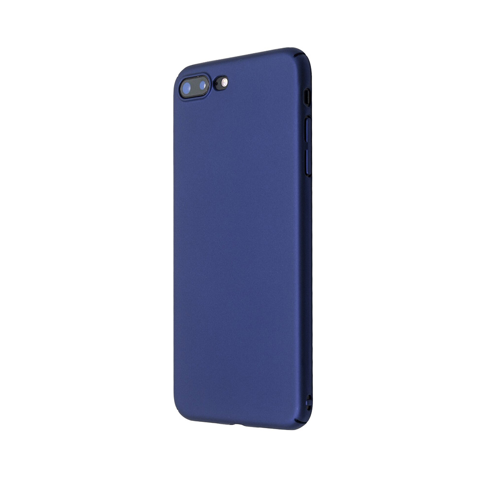 Carcasa iPhone 8 Plus Just Must Uvo Navy (material fin la atingere, slim fit)