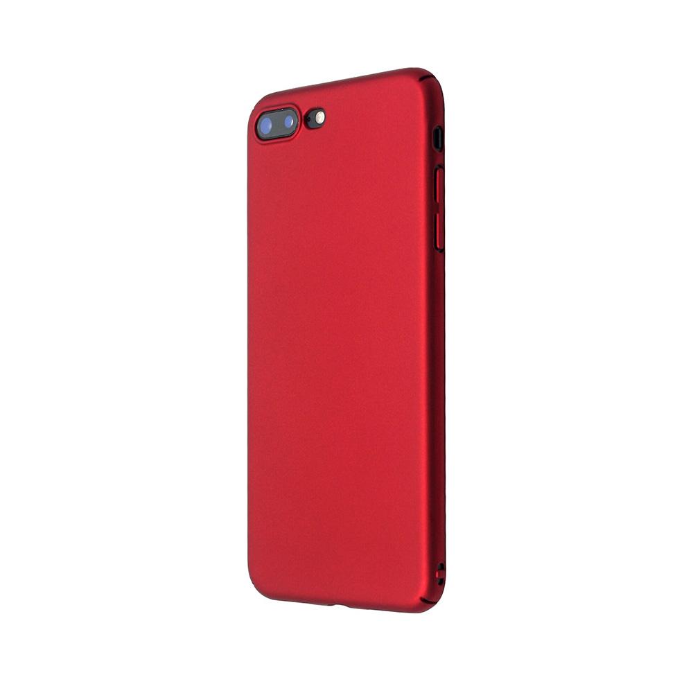 Carcasa iPhone 8 Plus Just Must Uvo Red (material fin la atingere, slim fit)