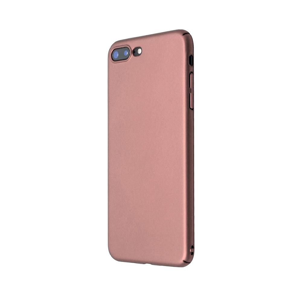 Carcasa iPhone 8 Plus Just Must Uvo Rose Gold (material fin la atingere, slim fit)