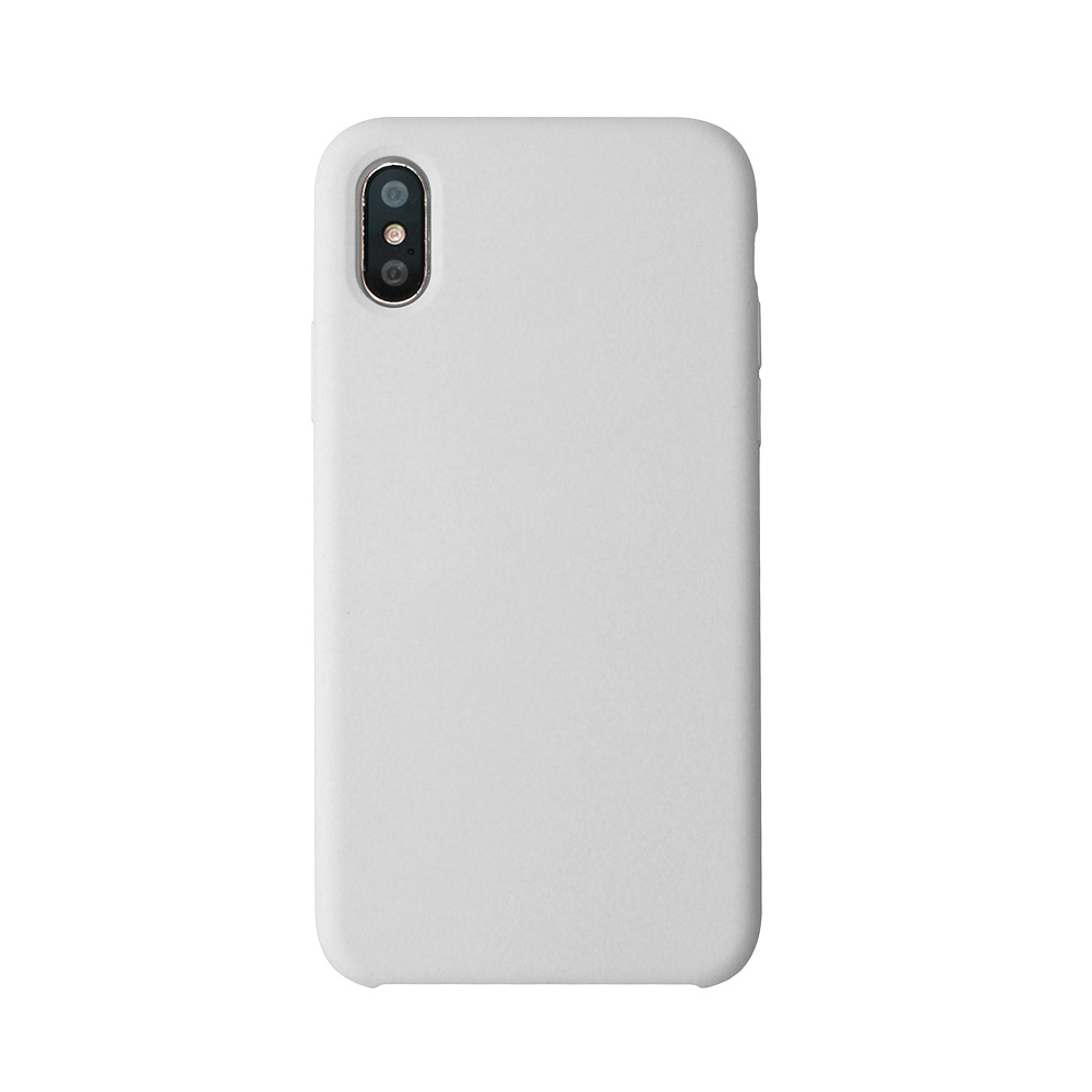 Carcasa iPhone X Just Must Liquid Silicone White