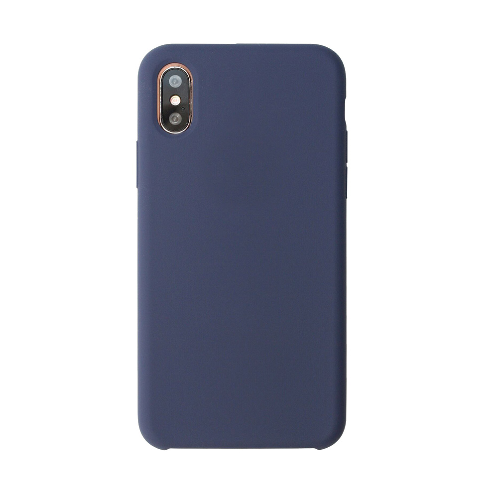 Carcasa iPhone X Just Must Liquid Silicone Midnight Blue