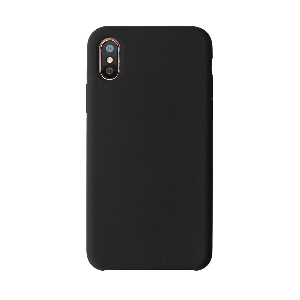 Carcasa iPhone X Just Must Liquid Silicone Black