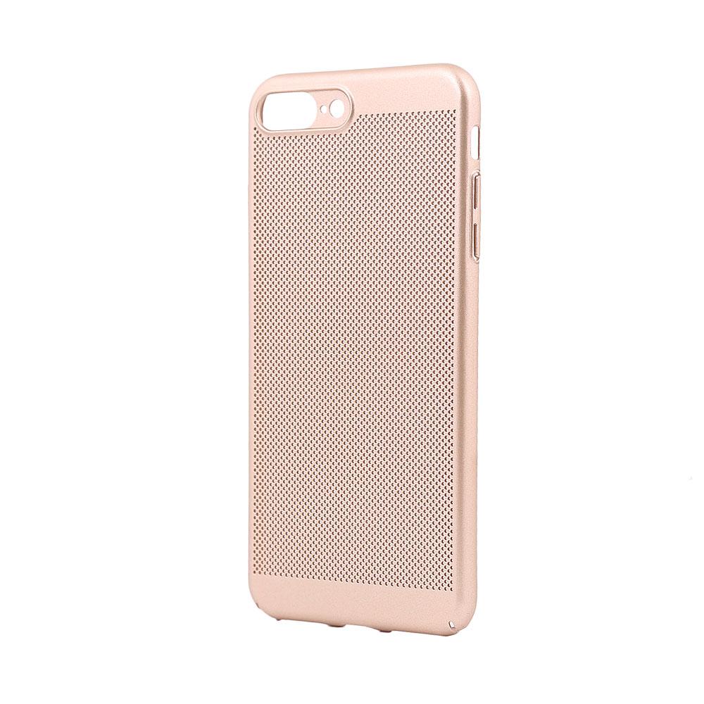 Carcasa iPhone 8 Plus Just Must Simo II Gold (gaurele pentru disiparea caldurii)