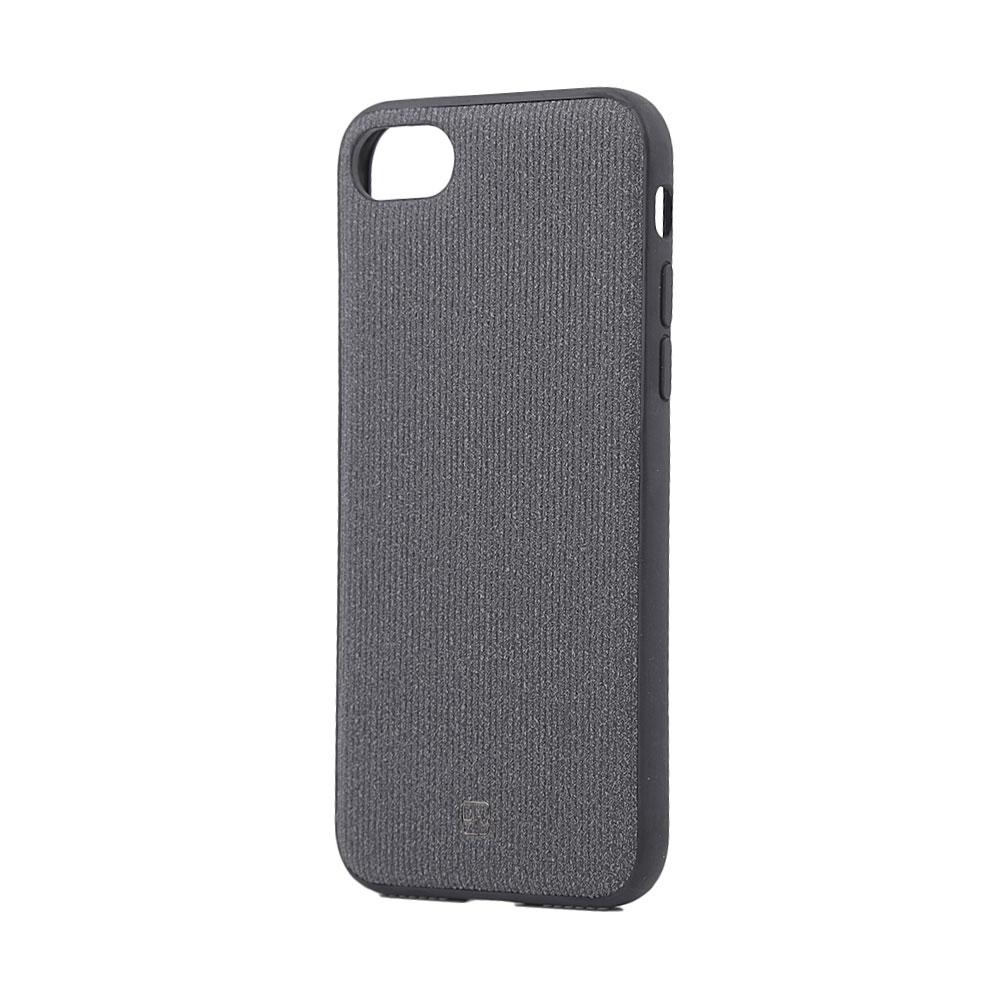 Carcasa iPhone 8 / 7 Just Must Pilot Black (margini flexibile, placuta metalica integrata)