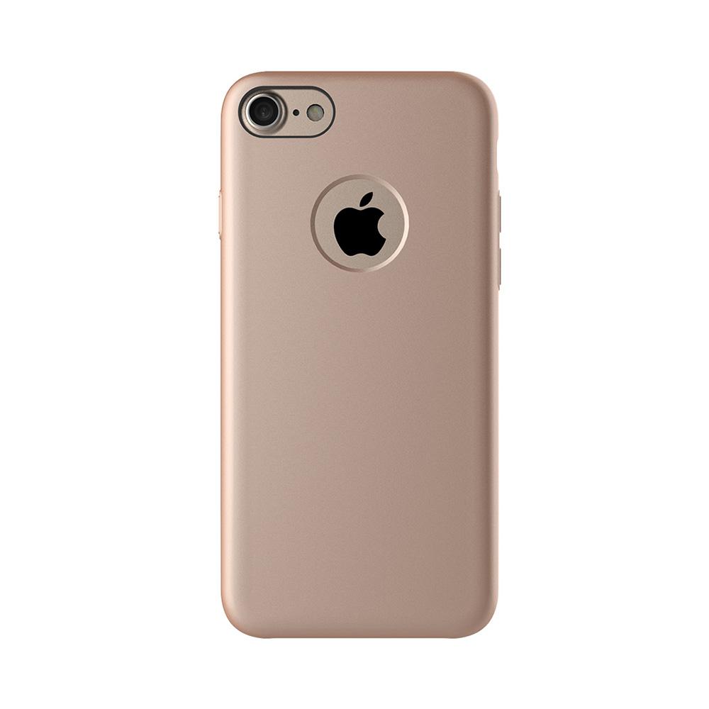 Carcasa iPhone 7 Mcdodo Magnetic Rose Gold (textura fina, placuta metalica integrata)