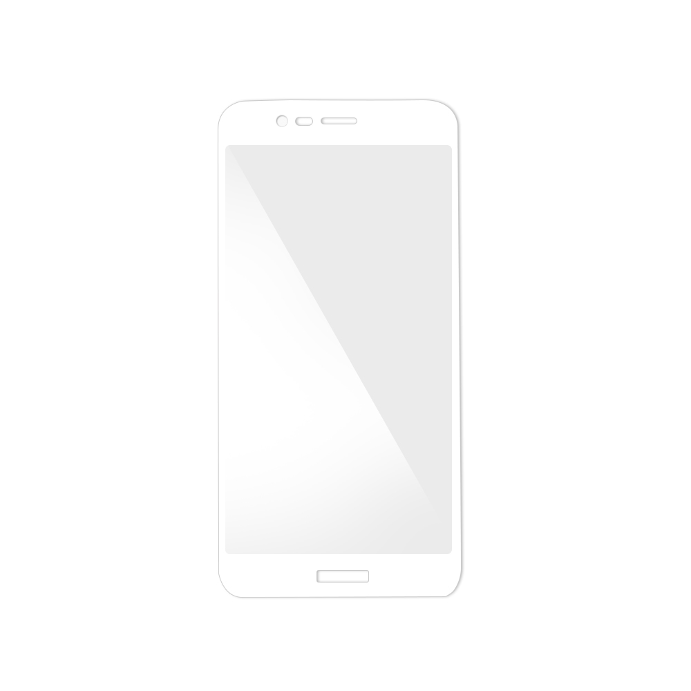 Folie Huawei Honor V9 Magic Sticla 3D Full Cover White (0.33mm, 9H)