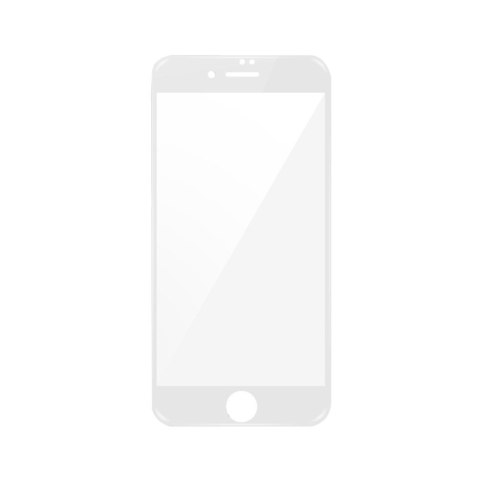 Folie iPhone 7 Plus Magic Sticla 3D Full Cover White (0.33mm, 9H)