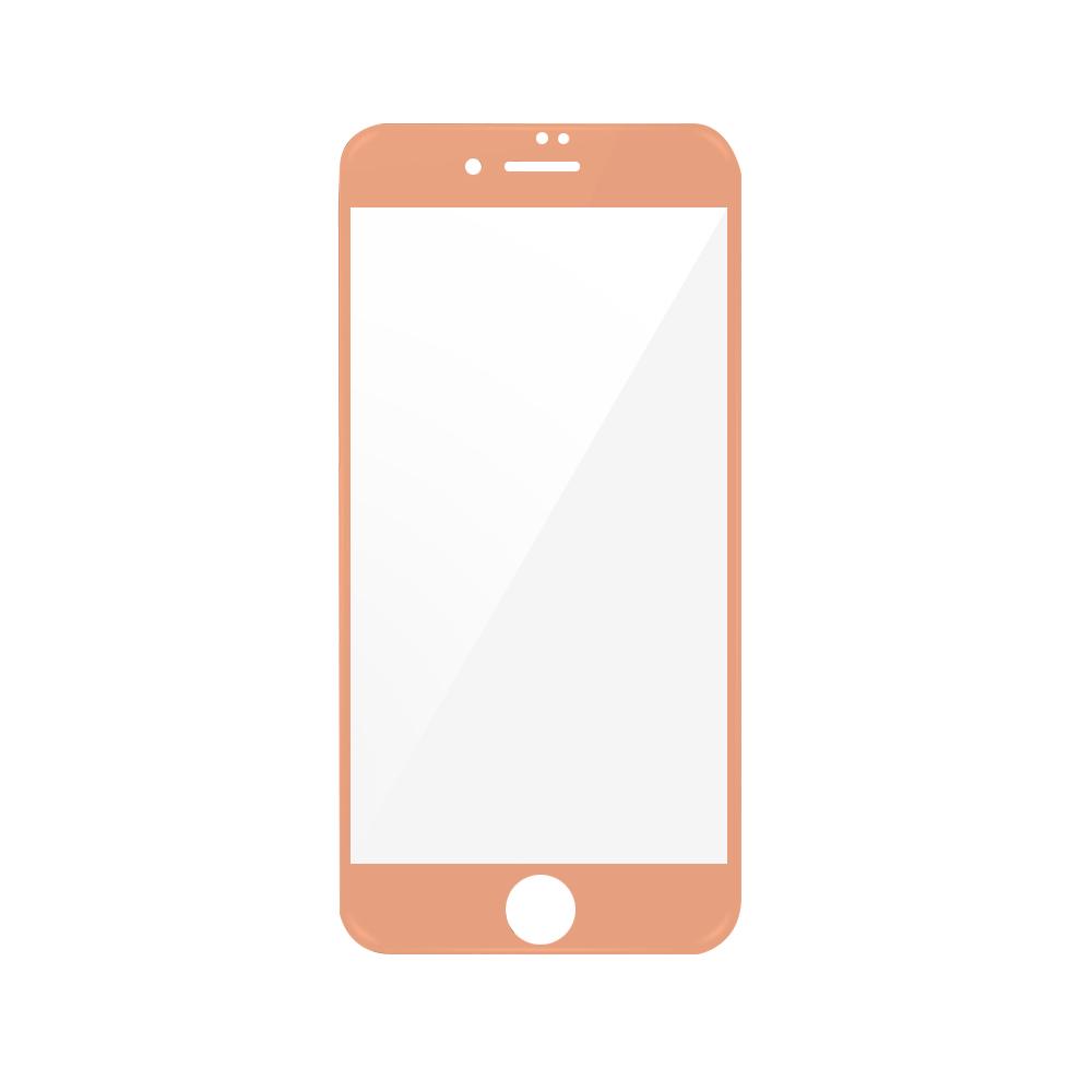 Folie iPhone 7 Plus Magic Sticla 3D Full Cover Rose Gold (0.33mm, 9H)