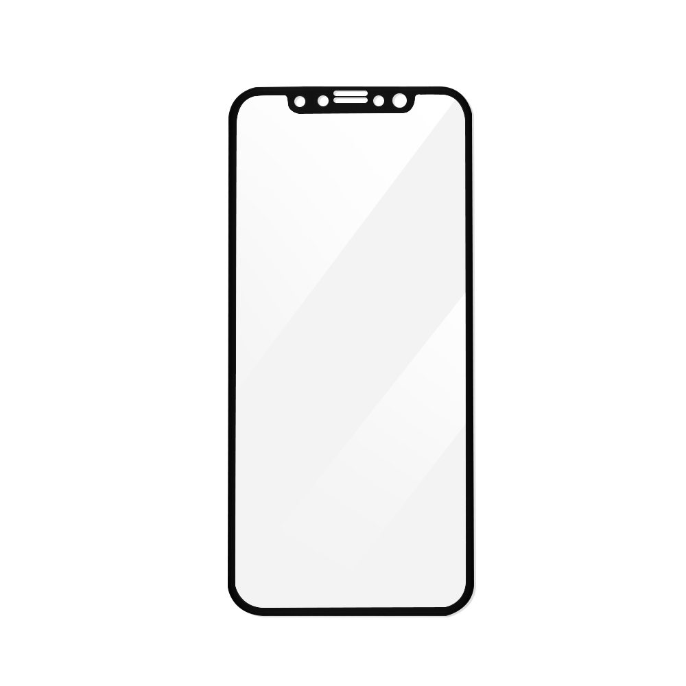 Folie iPhone X Magic Sticla 3D Full Cover Black (0.33mm, 9H)