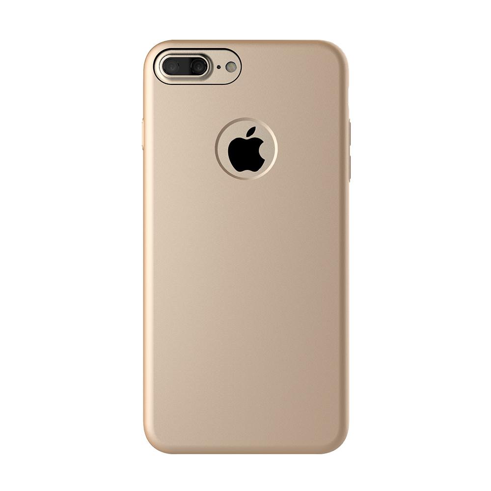 Carcasa iPhone 7 Plus Mcdodo Magnetic Gold (textura fina, placuta metalica integrata)