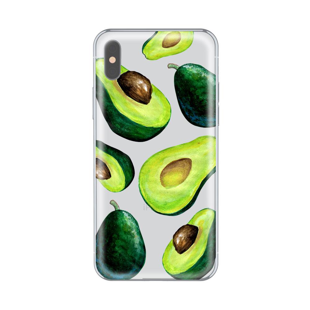 Husa iPhone X Lemontti Silicon Art Avocado