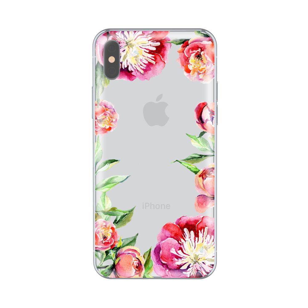 Husa iPhone X Lemontti Silicon Art Spring Flowers