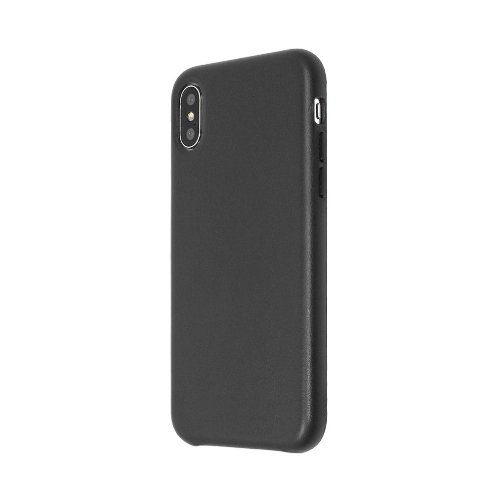 Carcasa iPhone X Just Must Origin Leather Black (piele naturala)