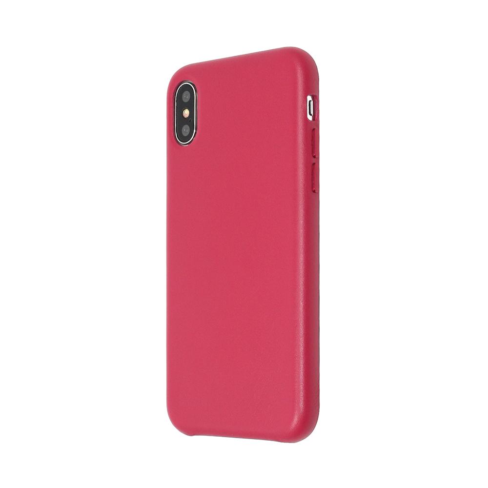Carcasa iPhone X Just Must Origin Leather Red (piele naturala)