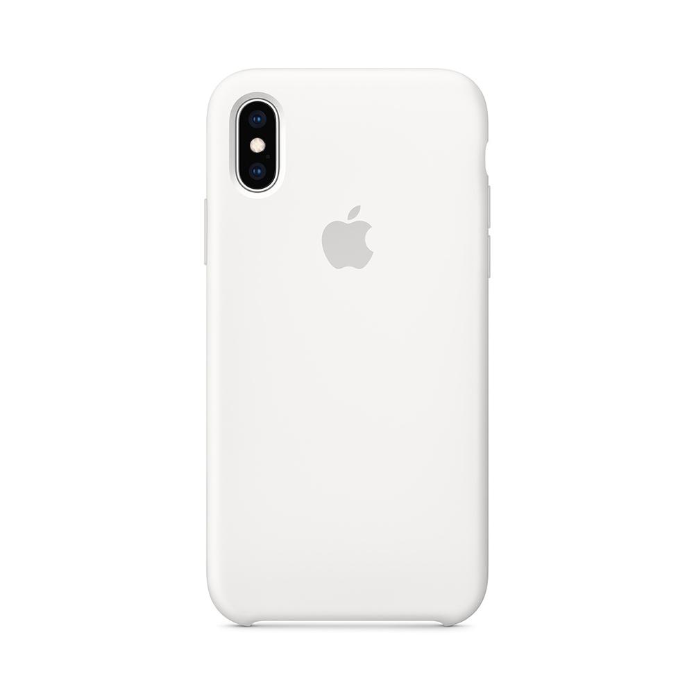 Husa iPhone XS Apple Silicon White