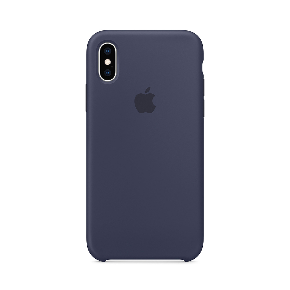 Husa iPhone XS Apple Silicon Midnight Blue
