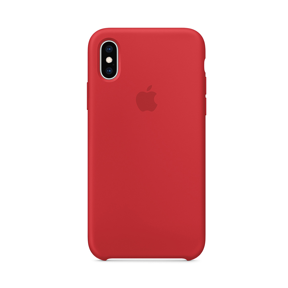 Husa iPhone XS Apple Silicon Red