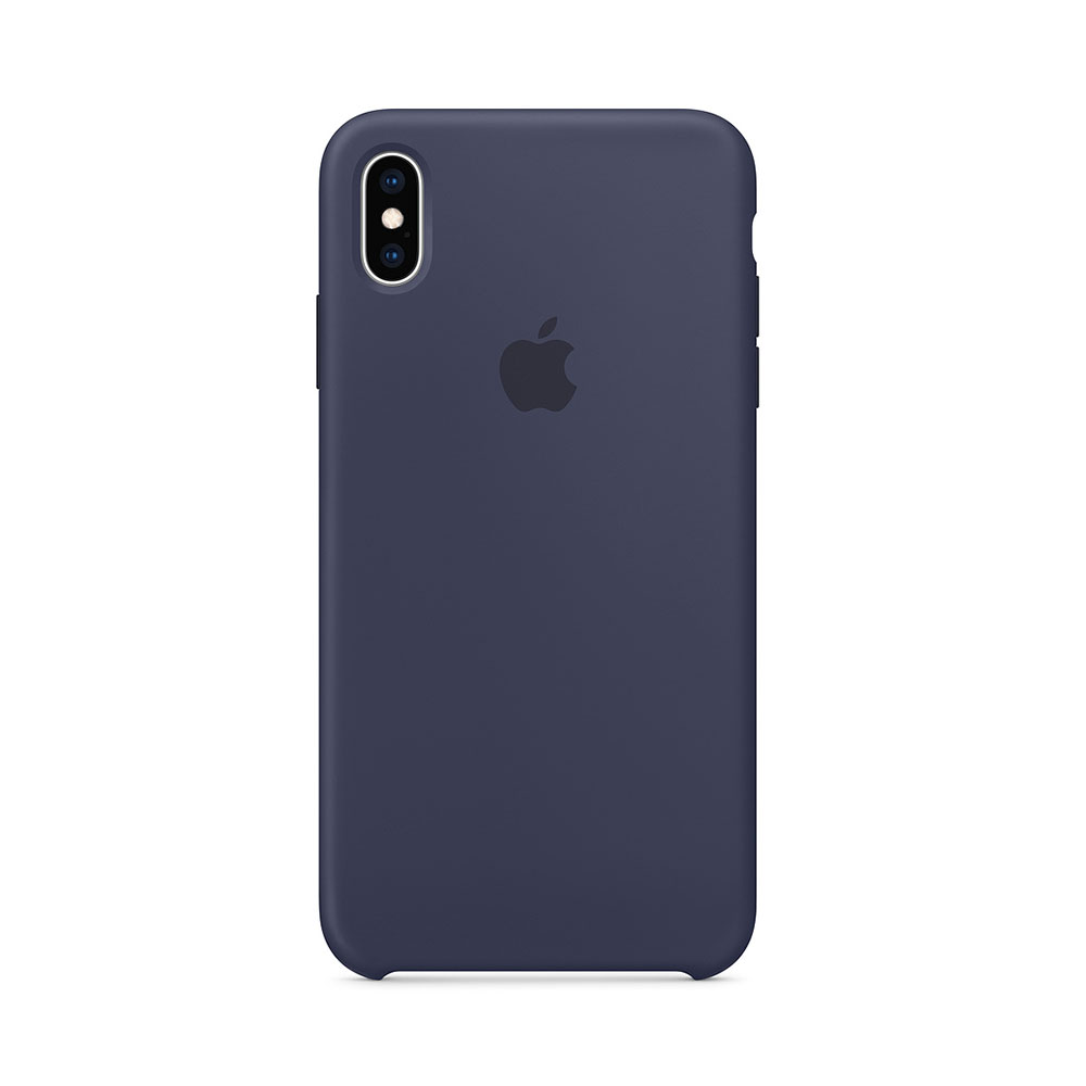 Husa iPhone XS Max Apple Silicon Midnight Blue