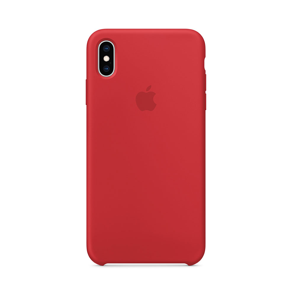 Husa iPhone XS Max Apple Silicon Red