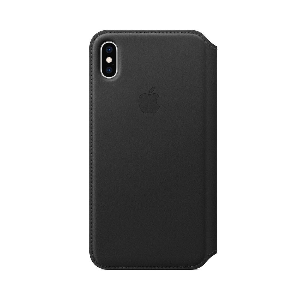 Husa iPhone XS Max Apple Leather Folio Black
